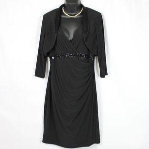 JESSICA HOWARD BLACK DRESS W/ JACKET